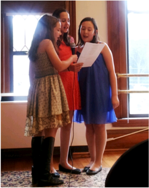 Carlisle School Library: Middle school students at the open-mic night
