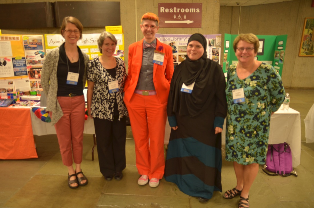 Super Librarian Awardees: Deeth Ellis, Tricia London, Jordan Funke, Rachel Bouhanda, Amy Bloom